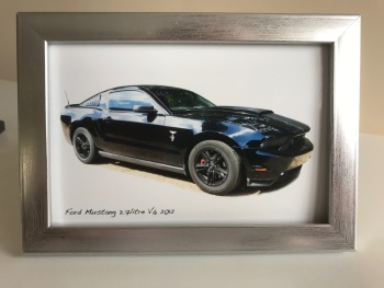 Ford Mustang 3.7l V6 2012  - Photo(4x6in) in a Silver coloured frame - Gift for the Enthusiast