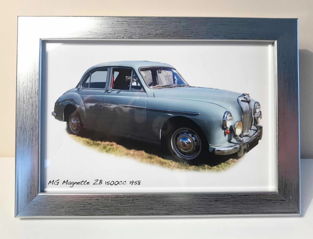 MG Magnette ZB 1958 -  Photo in a Silver coloured frame - Free UK Delivery