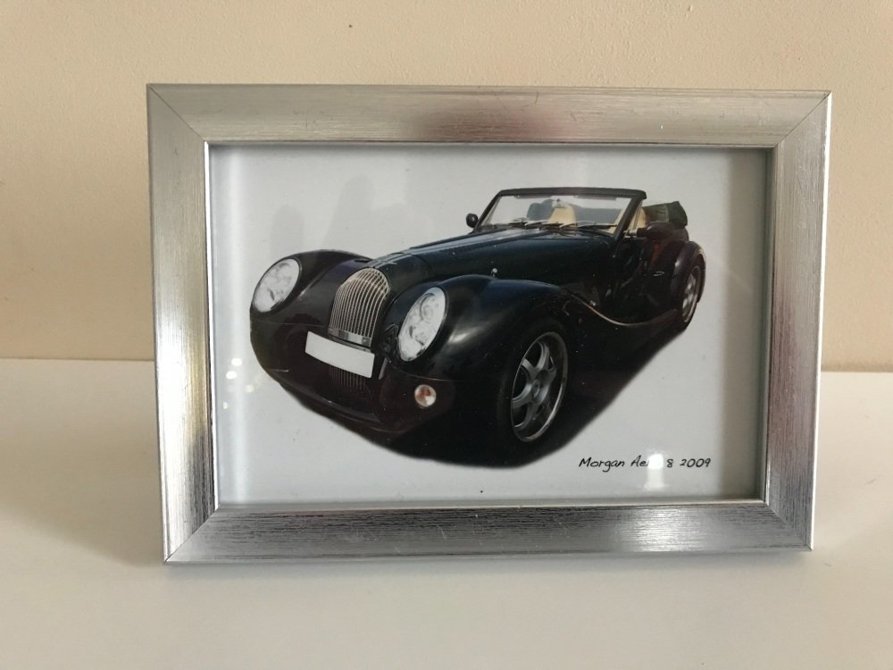 Morgan Aero 8 2008 - Photo in a Silver coloured frame - Free UK Delivery