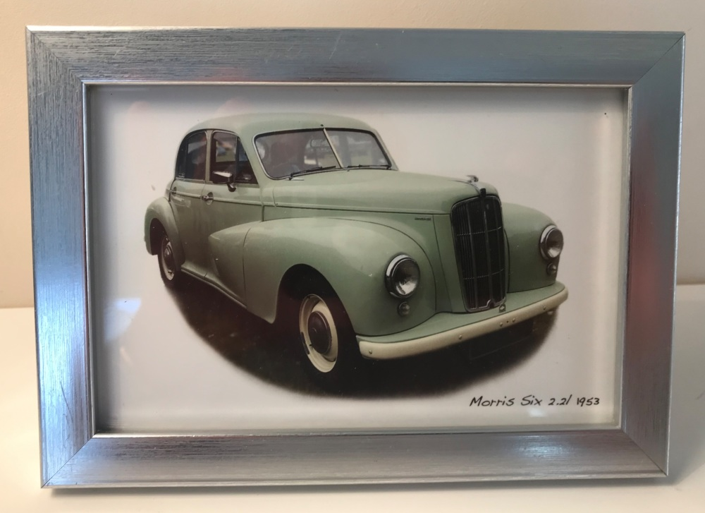 Morris Six 2.2 litre 1953 - Photo (4x6in) in a Silver coloured frame - Free