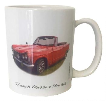Triumph  Vitesse Convertible 1967 Ceramic Mug - Ideal Gift for the Soft Top Enthusiast - Free UK Delivery