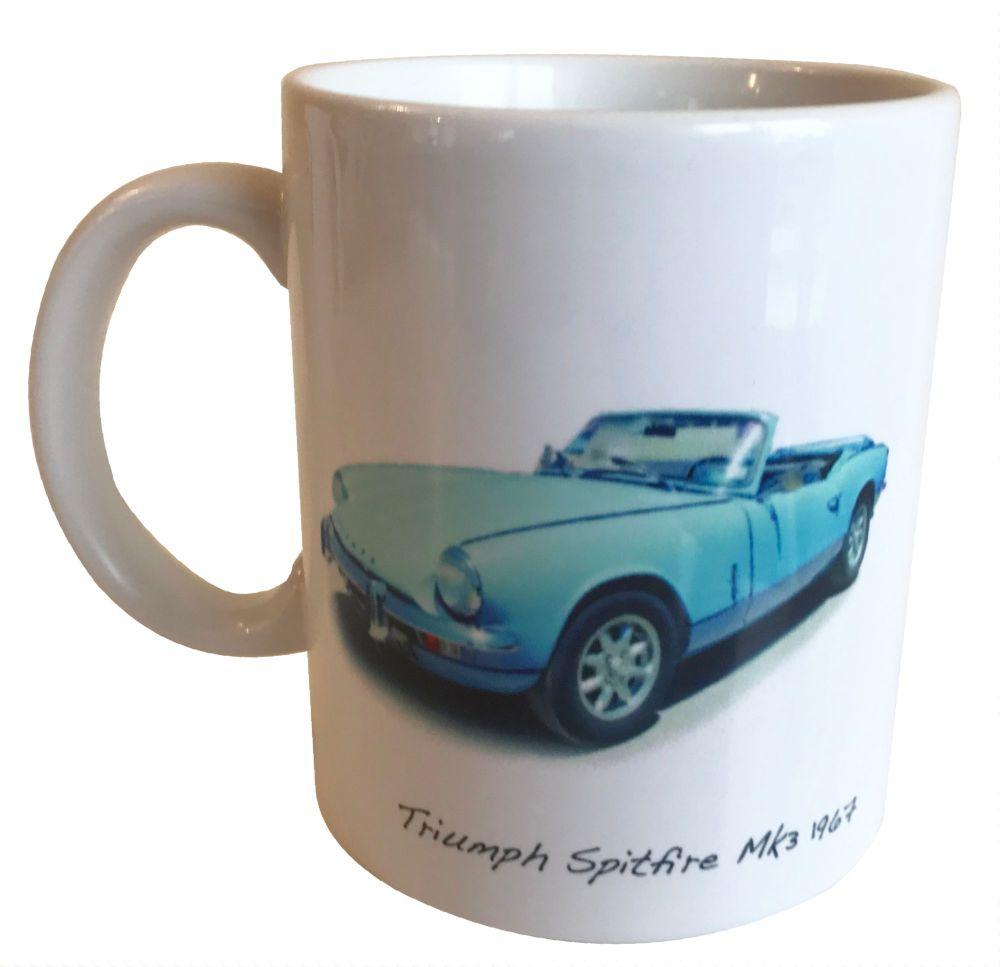 Triumph Spitfire Mk3 1967 -  Ceramic Mug - Ideal Gift for the Sports Car En