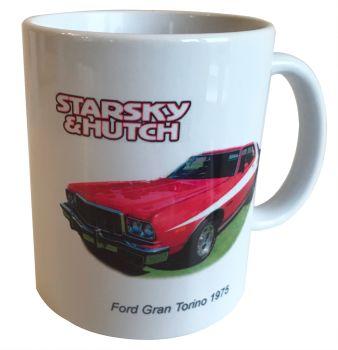 Ford Gran Torino 1976 - Starsky & Hutch - 11oz Ceramic Mug, Ideal Gift for the Film/Car Enthusiast