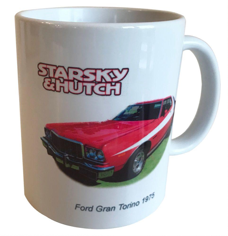 Ford Gran Torino 1976 - Starsky & Hutch - 11oz Ceramic Mug, Ideal Gift for