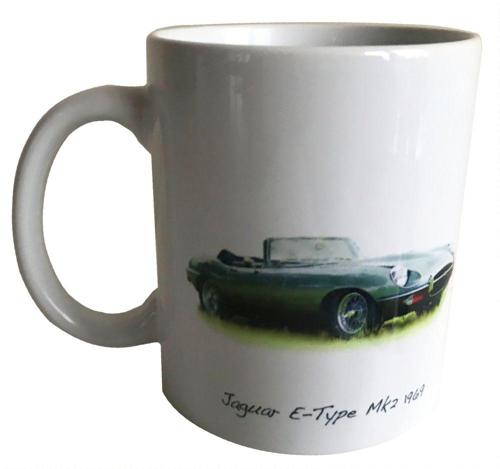 Jaguar E-Type Mk2 1969 Ceramic Mug - Ideal Gift for the Sports Car Enthusia