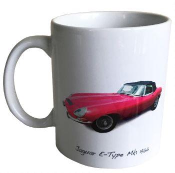 Jaguar E-Type Mk1 1966 Ceramic Mug - Ideal Gift for the Sports Car Enthusiast - Free UK Delivery
