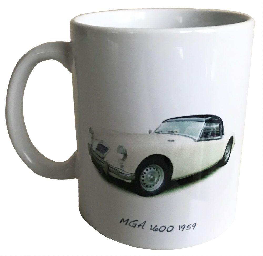 MGA 1600 1959 - 11oz Ceramic Mug - Ideal Gift for the Sports Car Enthusiast