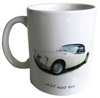 MGA 1600 1959 - 11oz Ceramic Mug - Ideal Gift for the Sports Car Enthusiast - Free UK Delivery