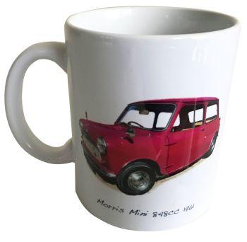 Morris Mini 848cc 1961 - 11oz Ceramic Mug - Memories of your First Car - Free UK Delivery