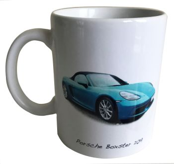 Porsche Boxster 2019  - 11oz Ceramic Mug - Ideal Gift for the German Car Enthusiast - Free UK Delivery