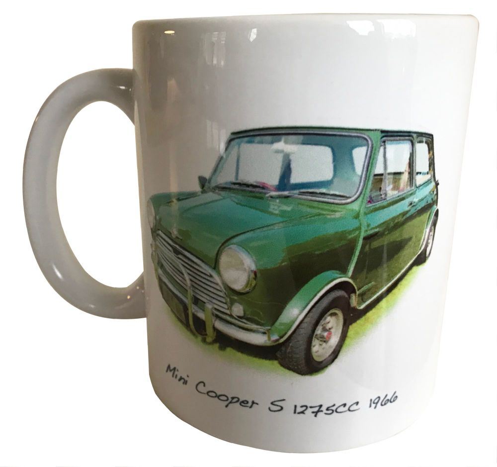 Mini Cooper S 1275cc (Radford) 1964 - Ceramic Mug - Hot Cars from the Sixti