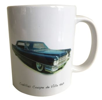 Cadillac Coupe de Ville 1963 Ceramic Mug - Ideal Gift for the American Car Enthusiast - Free UK Delivery
