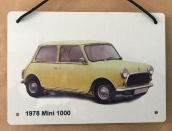Mini 1000 1978 (Yellow)- Aluminium Plaque 148 x 210mm
