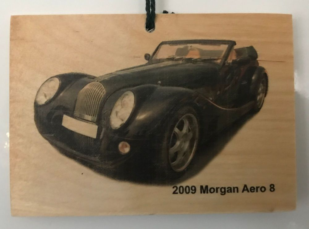 Morgan Aero 8 2009 - Wooden Plaque 148 x 105mm
