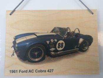 AC Cobra 427 - Wooden Plaque 148 x 210mm