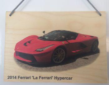 Ferrari 'La Ferrari' Hypercar 2014 - Wooden Plaque A5 (148 x 210mm)