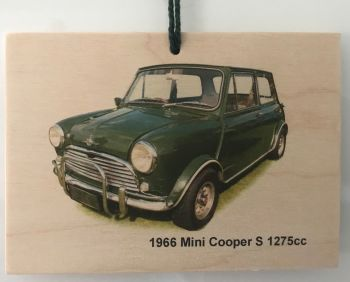 Mini Cooper S 1275cc (Radford) - Wooden Plaque 105 x 148mm