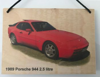 Porsche 944 2.5litre 1989 - Wooden Plaque A5 (210 x 148mm)