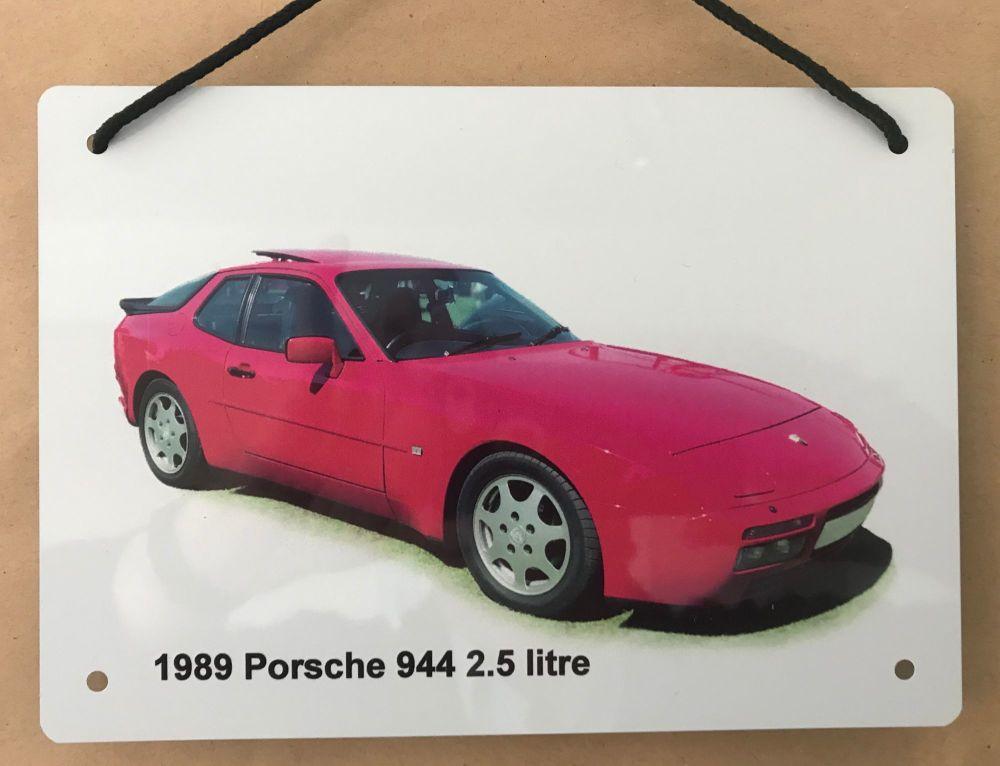 Porsche 944 1989 - A5 Aluminium Plaque - Ideal Present for the German Sport