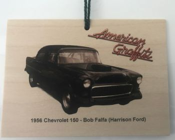 Chevrolet 150  1955 from the film American Graffiti - Wooden plaque 148 x 105mm