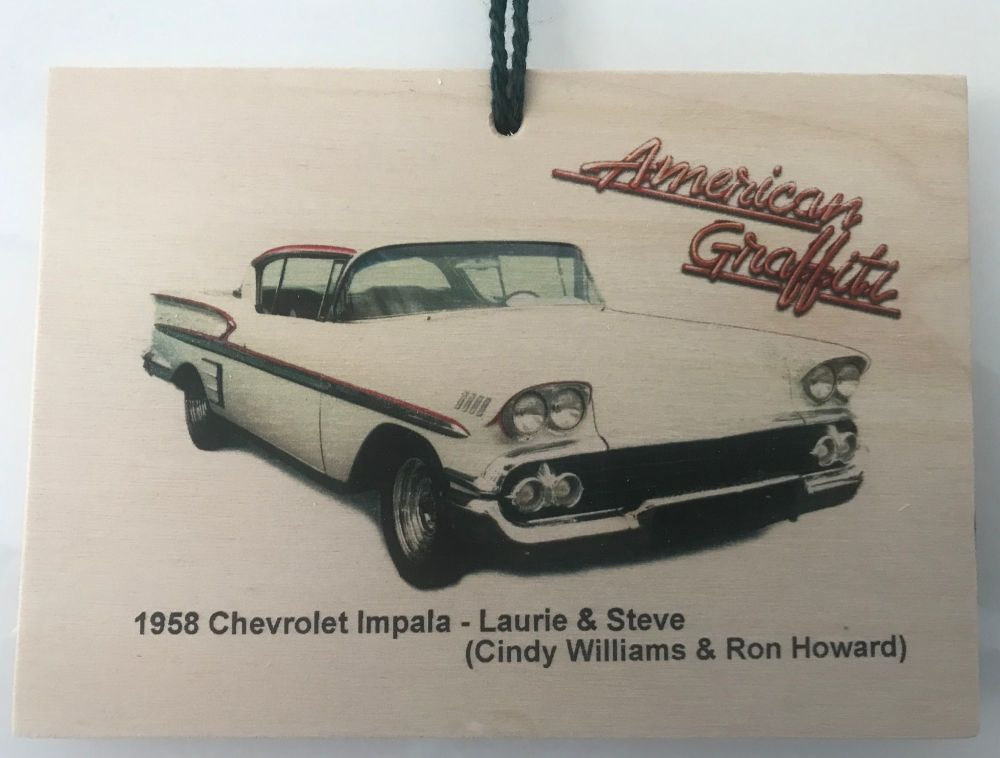 Chevrolet Impala 1958  from the film American Graffiti - Wooden plaque 148