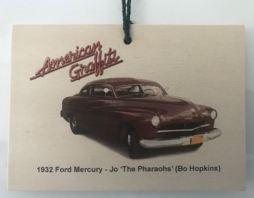 Ford Mercury 1951 from the film American Graffiti - Wooden plaque 148 x 105