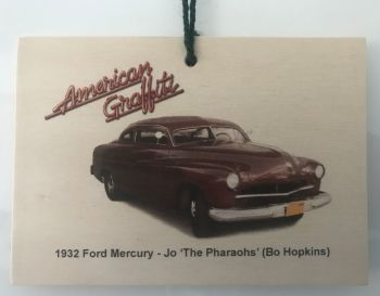 Ford Mercury 1951 from the film American Graffiti - Wooden plaque 148 x 105mm