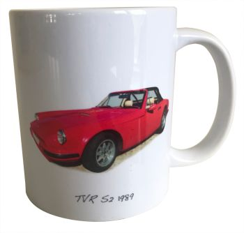 TVR S2 1989 - 11oz Ceramic Mug - Ideal Gift for the Sports Car Enthusiast - Free UK Delivery