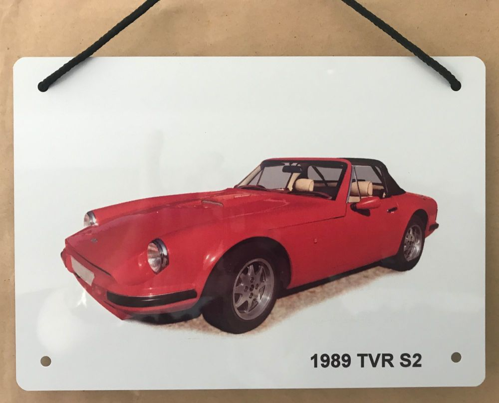 TVR S2 1989 - A5 Aluminium Plaque - Ideal Gift for the Car Enthusiast