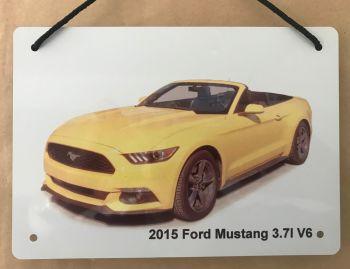 Ford Mustang 3.7l V6 Convertible 2015- Aluminium Plaque A5 (148 x 210mm)