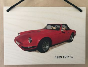 TVR S2 1989 - Wooden Plaque A5 (148 x 210mm)