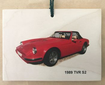 TVR S2 1989 - Wooden Plaque A6 (105 x 148mm)