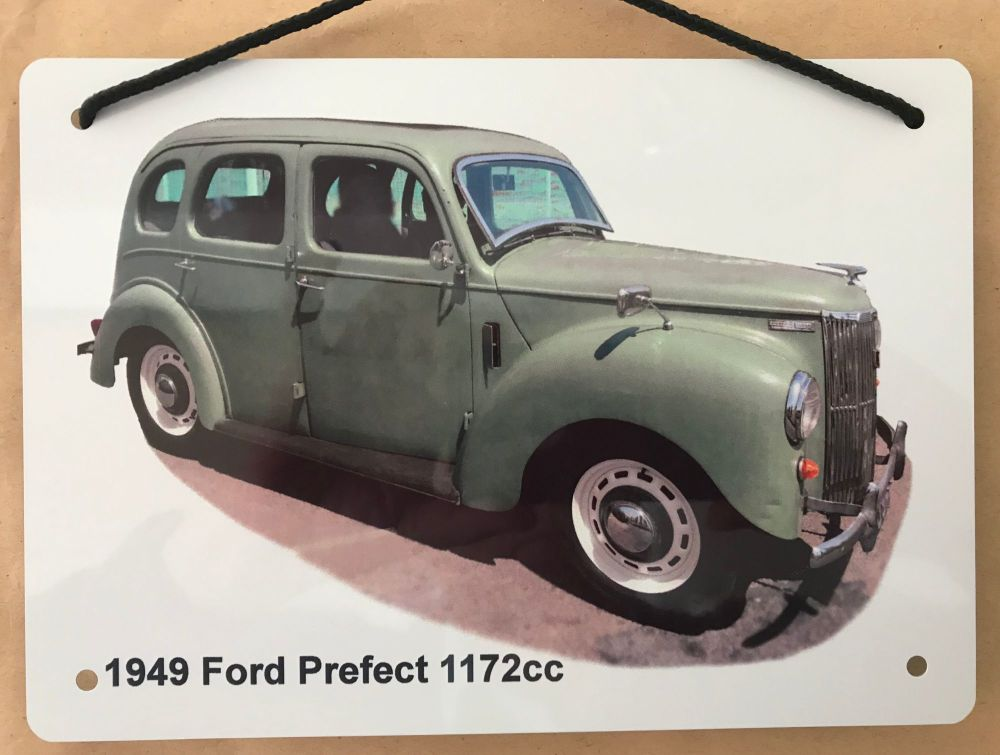 Ford  Prefect 1172cc 1949 - Aluminium Plaque A5 (148 x 210mm) - Gift for th