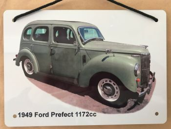 Ford  Prefect 1172cc 1949 - Aluminium Plaque A5 (148 x 210mm) - Gift for the Ford fanatic