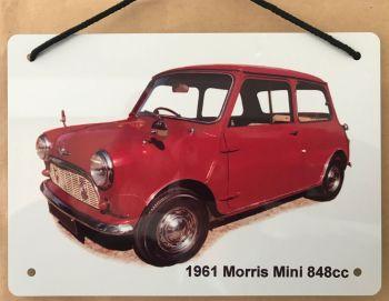Morris Mini 848cc 1961- Aluminium Plaque A5 (148 x 210mm)