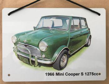 Mini Cooper S 1275cc - Aluminium Plaque A5 (148 x 210mm)