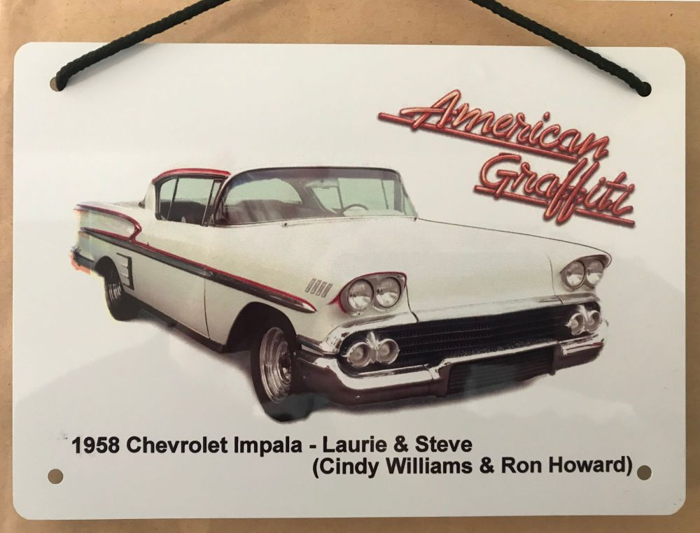 Chevrolet Impala 1958 from the film American Graffiti - A5 Aluminium Plaque