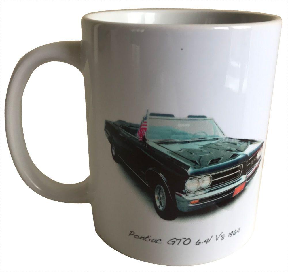 Pontiac GTO 1964 Ceramic Mug - Ideal Gift for the American Car Enthusiast -