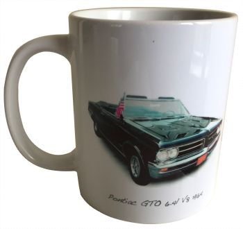 Pontiac GTO 1964 Ceramic Mug - Ideal Gift for the American Car Enthusiast - Free UK Delivery