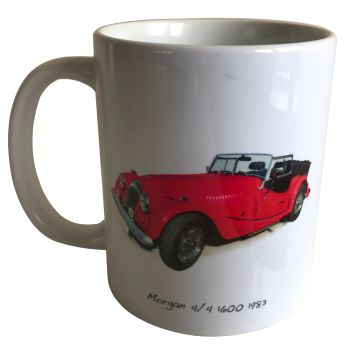 Morgan 4/4 1600 1983 Ceramic Mug - Ideal Gift for the Sports Car Enthusiast - Free UK Delivery
