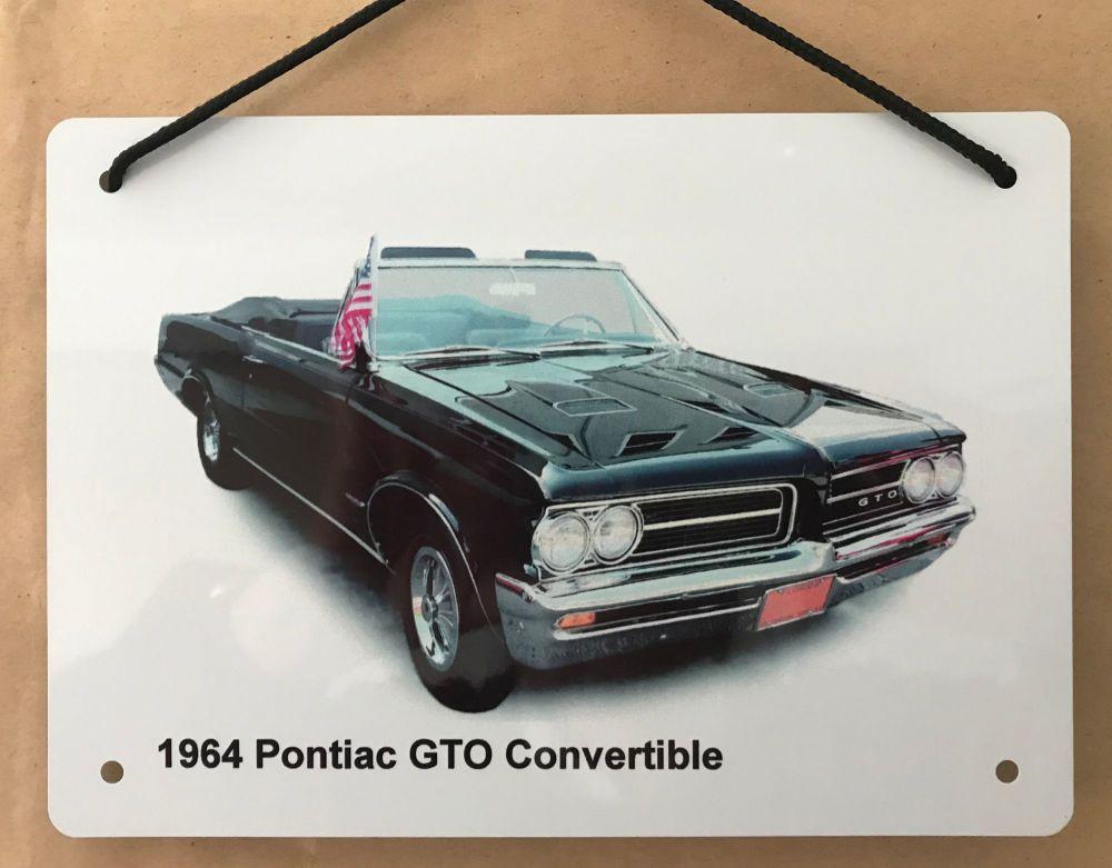 Pontiac GTO Convertible 1964 - A5 Aluminium Plaque - Ideal Gift for the Car