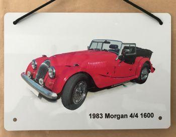 Morgan 4/4 1600 1983 - A5 Aluminium Plaque - Ideal Gift for the Car Enthusiast