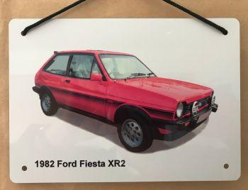 Ford Fiesta XR2 - Aluminium Plaque A5(148 x 210mm)