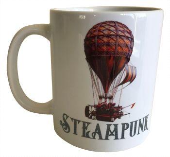 Hot Air Balloon - Steampunk - 11oz Ceramic Mug
