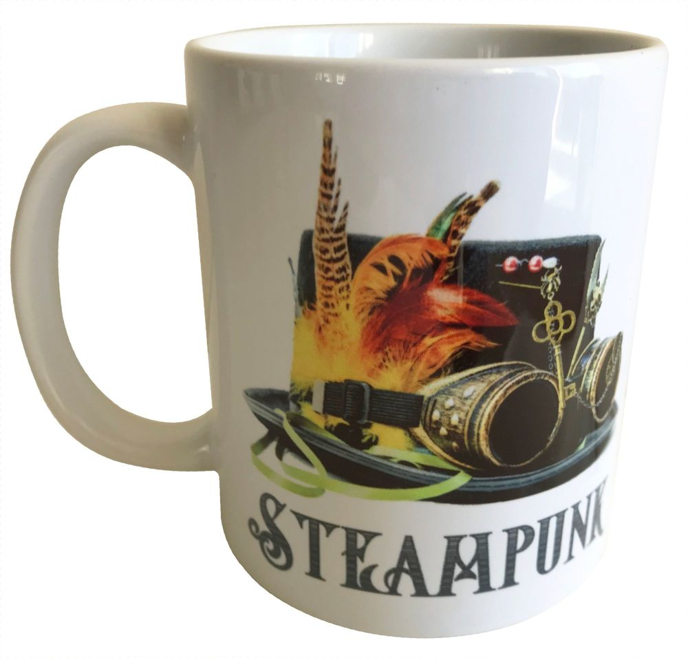 Top Hat with Feathers - Steampunk - 11oz Ceramic Mug