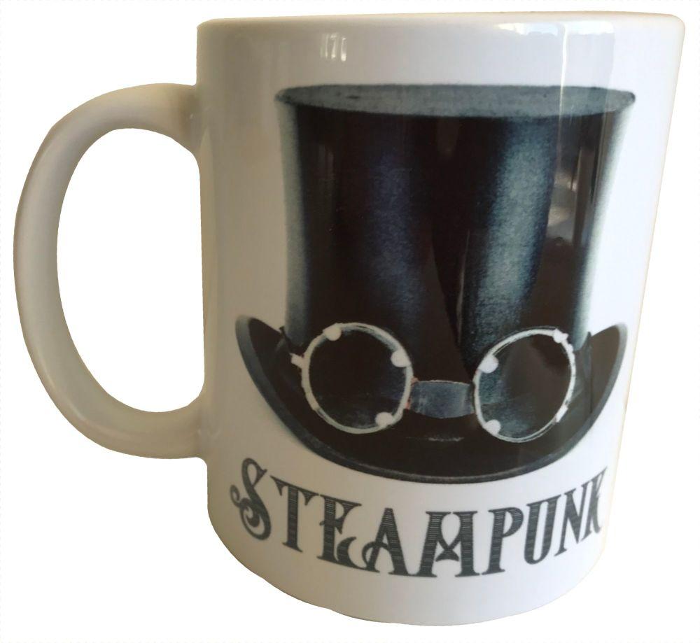 Black Hat with Goggles - Steampunk - 11oz Ceramic Mug