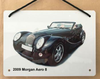 Morgan Aero 8 2009 - A5 Aluminium Plaque - Ideal Gift for the Car Enthusiast