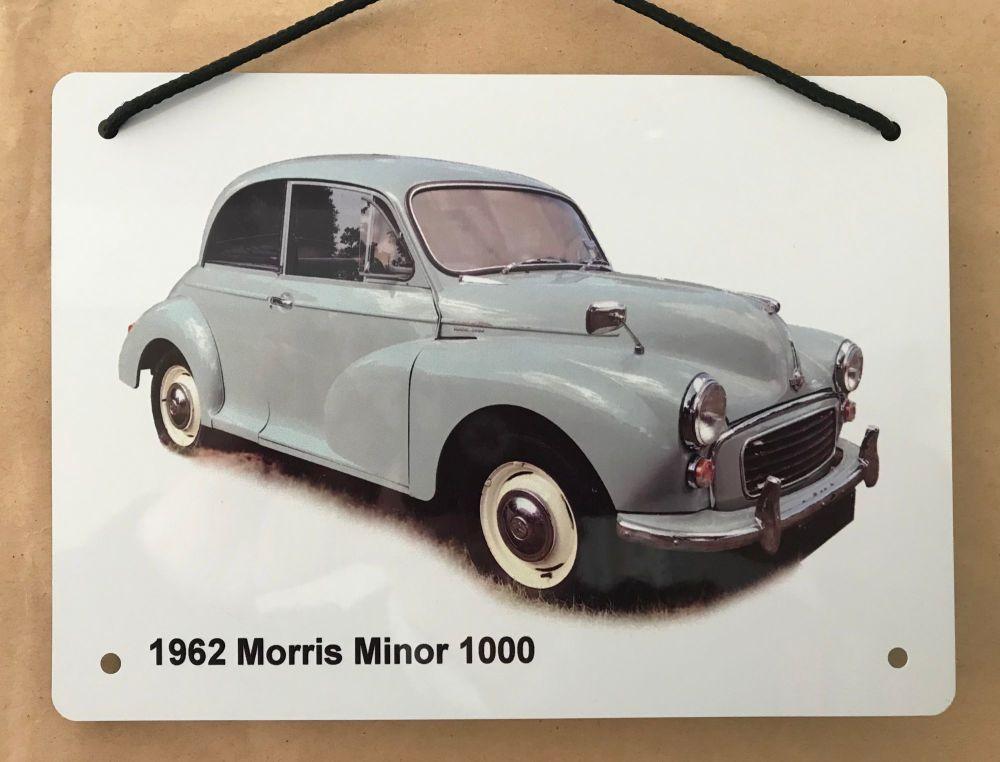 Morris Minor 1969 (Pale Blue)- Aluminium Plaque A5 (148 x 210mm)