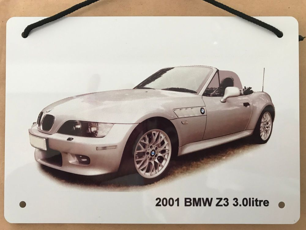 BMW Z3 2001 - A5 Aluminium Plaque - Ideal Gift for the German Car Enthusias