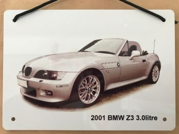 BMW Z3 2001 - A5 Aluminium Plaque - Ideal Gift for the German Car Enthusiast